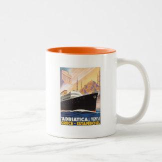 Vintage Venise Greece Istamboul Two-Tone Mug