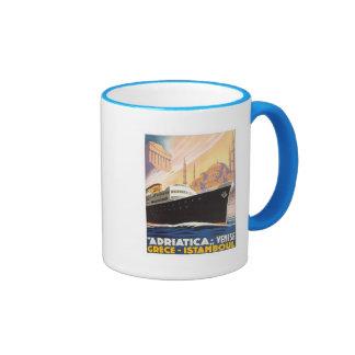 Vintage Venise Greece Istamboul Ringer Coffee Mug