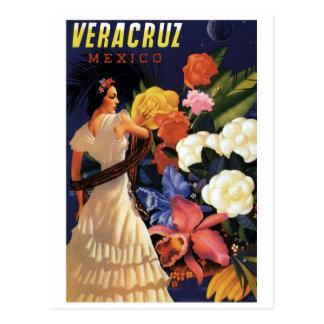 Vintage Veracruz Mexico Travel Postcard