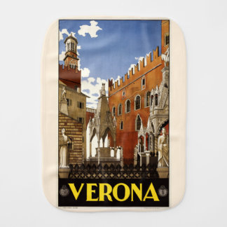 Vintage Verona Italy burp cloth