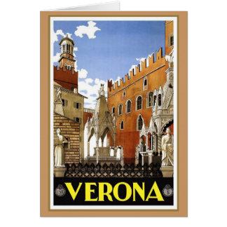Vintage Verona Italy Card