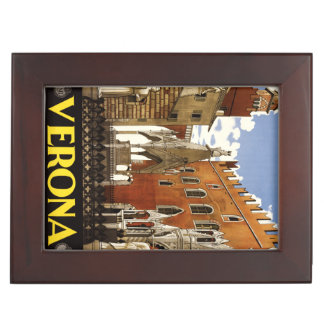 Vintage Verona Italy custom keepsake box