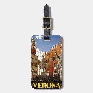 Vintage Verona Italy custom luggage tag