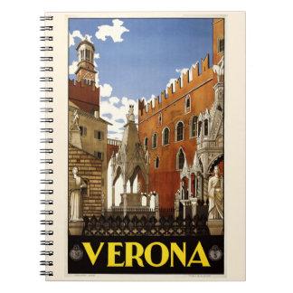 Vintage Verona Italy notebook