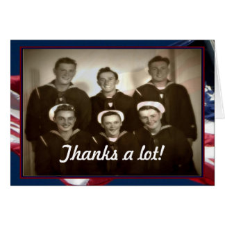 Vintage Veterans Day, Thanks a lot! -Military Card