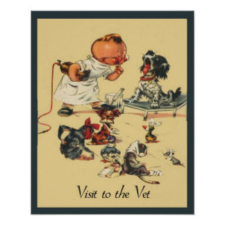 Vintage Veterinarian - Visit to the Vet Poster