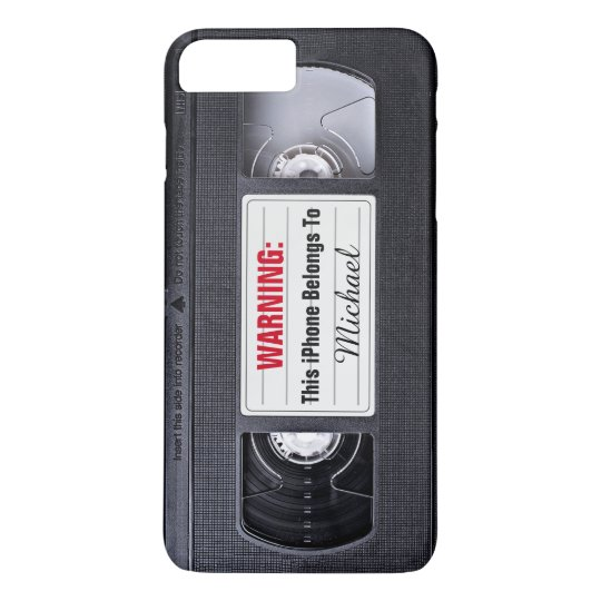 Vintage VHS Cassette Tape Personalised Name Text iPhone