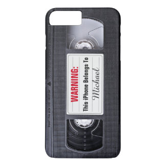 Vintage VHS Cassette Tape Personalized Name Text iPhone 8 Plus/7 Plus Case