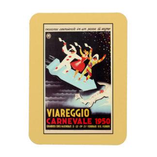 Vintage Viareggio carnival Italian travel ad Rectangular Photo Magnet