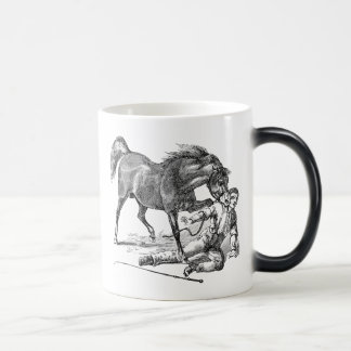 Vintage Vicious Biting Horse Template Morphing Mug