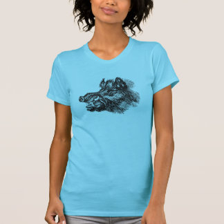 Vintage Vicious Wild Boar w Tusks Template T Shirts