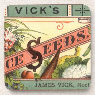 Vintage Vick s Choice Seeds Packet Label Art Coaster