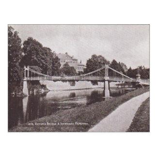 Vintage  Victoria Bridge, Infirmary Hertford 1925 Postcard