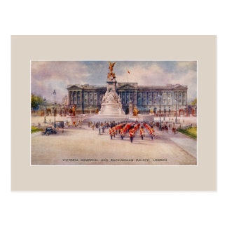 Vintage Victoria Memorial Buckingham Palace art Post Card