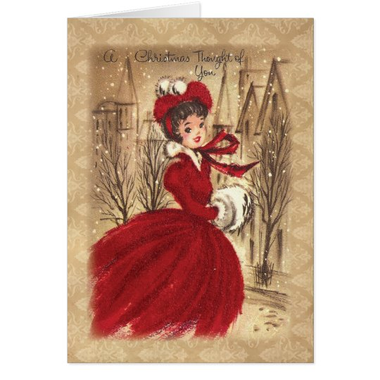 Vintage Victorian A Christmas Thought of You Card