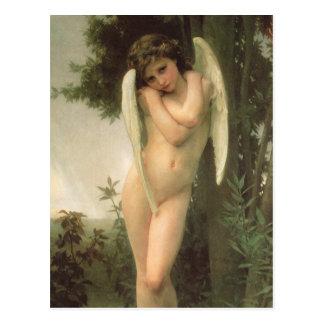 Vintage Victorian Angel Art, Cupid by Bouguereau Postcard