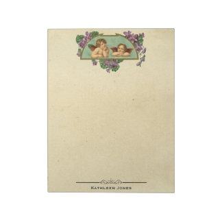 Vintage Victorian Angel Art | Custom Vintage Paper Notepad
