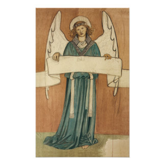 Vintage Victorian Angel by William Morris Poster