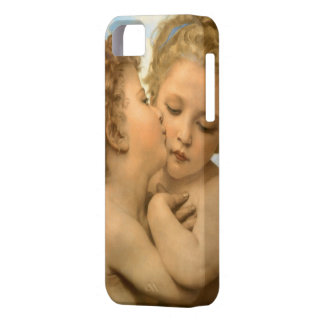 Vintage Victorian Angels, First Kiss by Bouguereau iPhone 5 Cases