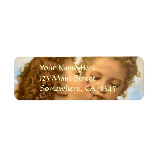 Vintage Victorian Angels, First Kiss by Bouguereau Return Address Label