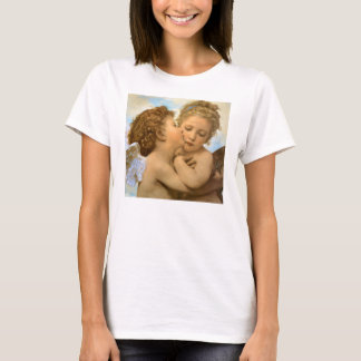 Vintage Victorian Angels, First Kiss by Bouguereau T-Shirt