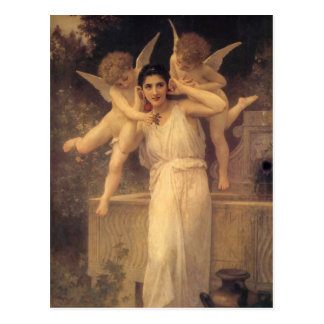 Vintage Victorian Angels, Youth by Bouguereau Postcard