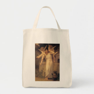 Vintage Victorian Angels, Youth by Bouguereau Tote Bag