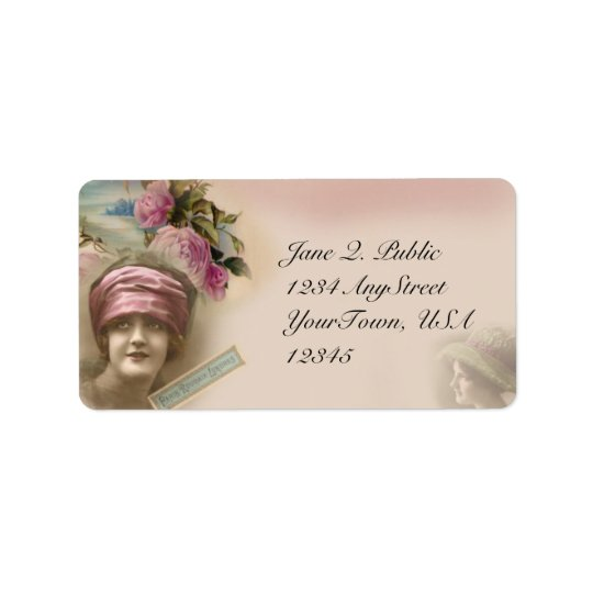 Vintage Victorian Antique Style Address Label