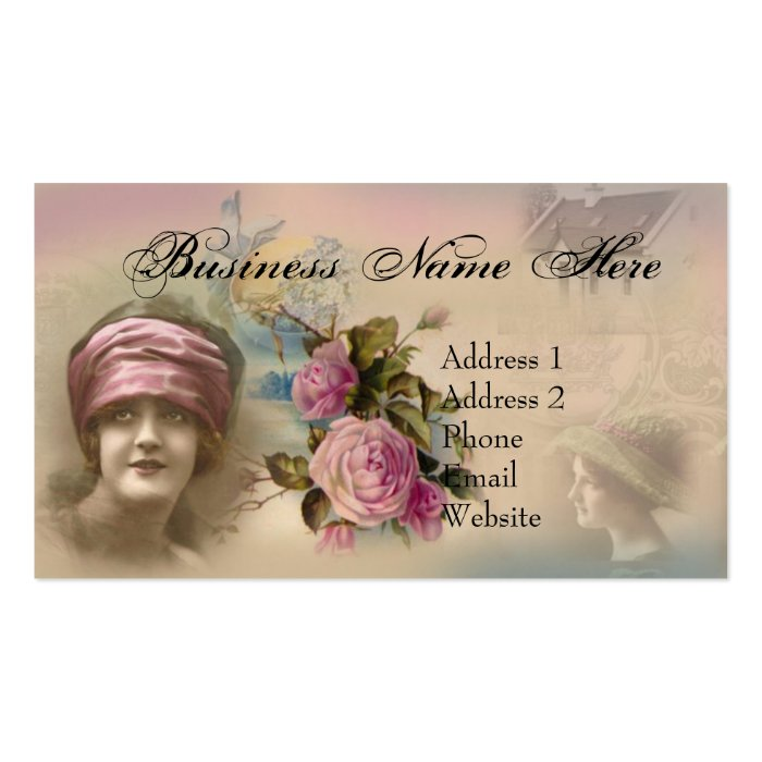 Vintage Victorian Antique Style Business Card