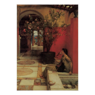 Vintage Victorian Art, An Oleander by Alma Tadema Poster