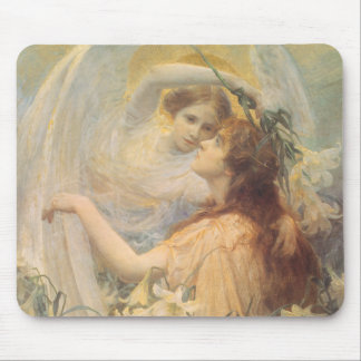 Vintage Victorian Art Angel's Message by Swinstead Mouse Pad