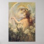Vintage Victorian Art Angel's Message by Swinstead Poster