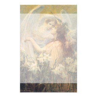 Vintage Victorian Art Angel's Message by Swinstead Stationery