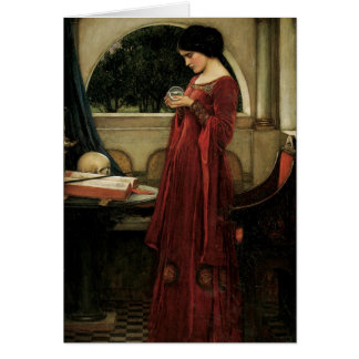 Vintage Victorian Art, Crystal Ball by Waterhouse Card