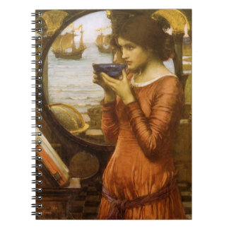 Vintage Victorian Art, Destiny by JW Waterhouse Notebooks