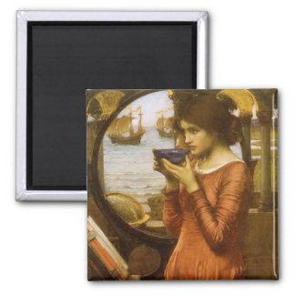 Vintage Victorian Art, Destiny by JW Waterhouse Square Magnet