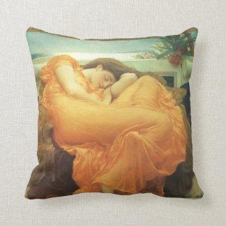 Vintage Victorian Art, Flaming June by Leighton Throw Cushion