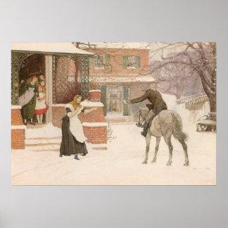 Vintage Victorian Art, Greeting Postman by Macbeth Poster