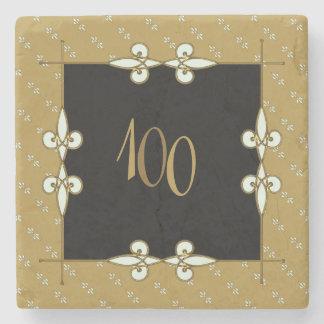 Vintage Victorian Art Nouveau 100+ Anniversary Stone Coaster
