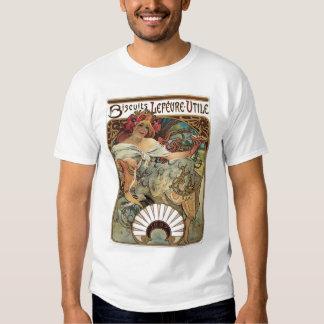 Vintage Victorian Art Nouveau by Alphonse Mucha T-shirt