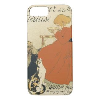 Vintage Victorian Art Nouveau, Girl with Milk Cats iPhone 8/7 Case