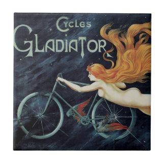 Vintage Victorian Art Nouveau, Gladiator Cycles Tile