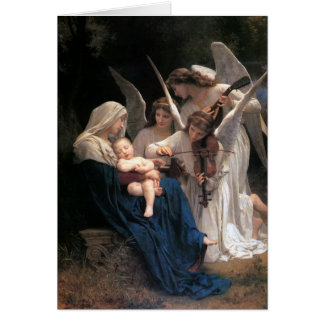 Vintage Victorian Art, Song of Angels, Bouguereau Card