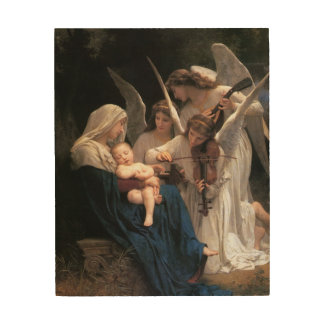 Vintage Victorian Art, Song of Angels, Bouguereau Wood Wall Art