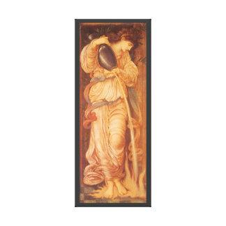 Vintage Victorian Art, Temperantia by Burne Jones Gallery Wrap Canvas