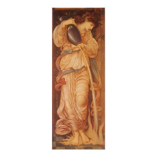 Vintage Victorian Art, Temperantia by Burne Jones Poster