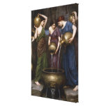Vintage Victorian Art, The Danaides by Waterhouse Canvas Prints