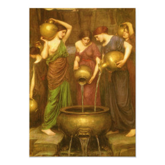 Vintage Victorian Art, The Danaides by Waterhouse Card
