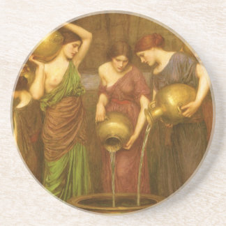 Vintage Victorian Art, The Danaides by Waterhouse Coaster