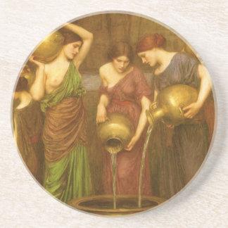 Vintage Victorian Art, The Danaides by Waterhouse Sandstone Coaster